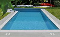Bordo piscina Capri bianco