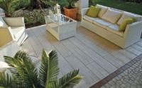 Pavimentazione listone legno bianco