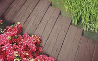 Pavimentazione listone legno marrone